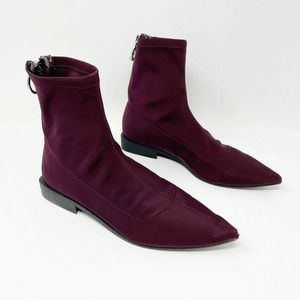 ZARA Stretch Zip Pointed Toe Ankle Boots